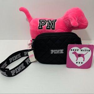 Victoria's Secret PINK Logo Fanny Pack Satin Quilt